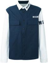 MSGM flap pockets shirt - men - Cotton - 50