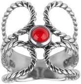 American West Sterling Silver Gemstone O-DesignRing