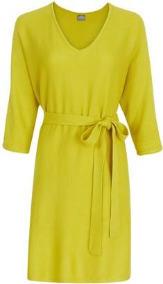 New York & Co. V-Neck Belted Sweater Dress
