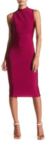 Wow Couture Mock Neck Lace-Up Back Dress