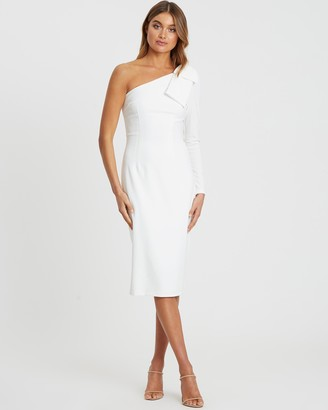 Chancery Perry One-Shoulder Midi Dress