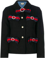 Gucci Web bow tweed jacket
