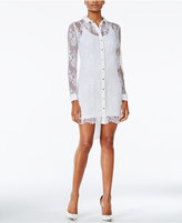 GUESS Isabell Lace Shirt Dress