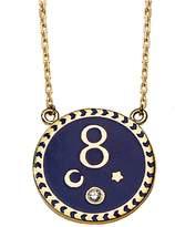 Foundrae Petite Blue Champlevé Karma Stationary Necklace