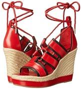 Alexander McQueen Ankle Wrap Wedge Sandal