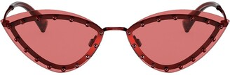 Valentino Eyewear Studded Cat-Eye Sunglasses