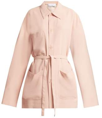 Raey Pocket-front Crepe Jacket - Womens - Light Pink