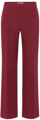 Valentino Cotton-blend crepe straight pants