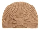 Fendi Logo-plaque wool turban