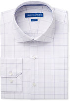 Vince Camuto Men's Slim-Fit Comfort Stretch Iris/White Glen Plaid Dress Shirt