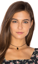 Vanessa Mooney Diamond Leather Choker