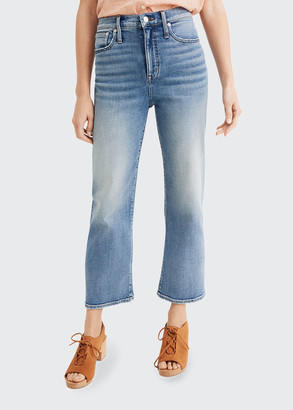 Madewell High-Rise Slim Wide Leg Jeans