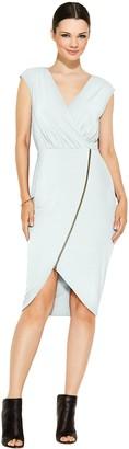Rachel Roy Women's S/L Jersey Zip Front Dress