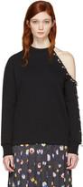 Christopher Kane Black Eyelet & Rings Sweatshirt