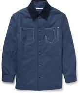 Givenchy Corduroy-Collar Cotton-Canvas Jacket
