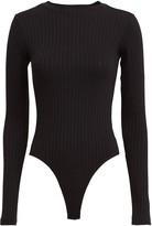 RE/DONE Long Sleeve Ribbed Bodysuit