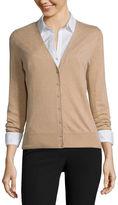 WORTHINGTON Worthington Long-Sleeve Button-Front Cardigan