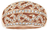 Fine Jewelry LIMITED QUANTITIES Genuine Pink Opal and 1/2 CT. T.W. Diamond Dome Ring No Color Family