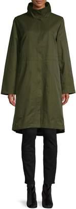 Eileen Fisher Stand Collar Coat