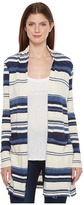 Splendid Stripe Caftan Cardigan Women's Sweater