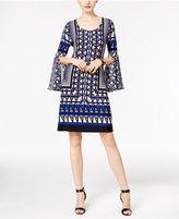 INC International Concepts Geo-Print Lattice-Back Dress, Only at Macy's