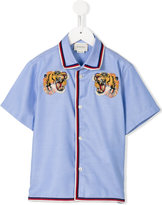 Gucci Kids tiger embroidered shirt