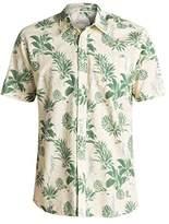 Quiksilver Waterman Men's Agavy Short Sleeve Button Down Floral Shirt