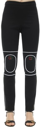 Gucci Techno Jersey Sweatpants W/ Padded Knees