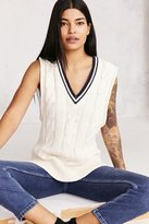 BDG Oversized Cable-Knit Sweater Vest