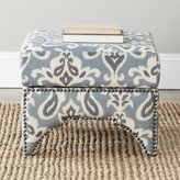 Safavieh Furniture Square Ottoman with Brass Nail Heads