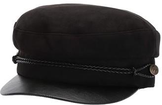San Diego Hat Company CTH8168 Faux Suede Greek Fisherman Cap (Black) Caps