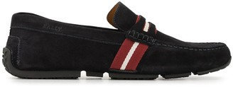 Bally Pietro contrasting-stripe penny loafers