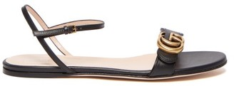 Gucci GG Marmont Leather Sandals - Black