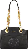Valentino By Mario Valentino Camelie Leather Shoulder Bag, Black