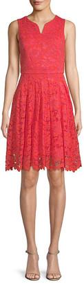 Donna Ricco Lace A-Line Dress
