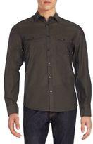 Calvin Klein Regular-Fit Chambray Cotton & Linen Sportshirt