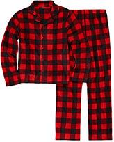 JELLIFISH KIDS Jelli Fish Boys Coat Front Red Buffalo Pajama Set-Big Kid