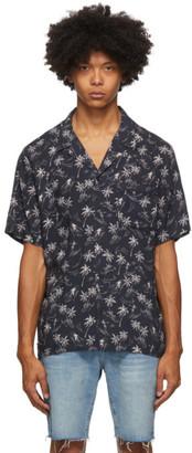 Frame Black Camp Collar Short Sleeve Shirt