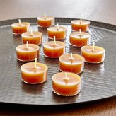 Crate & Barrel Orange Tealight Candles, Set of 12