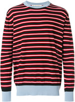 Marni striped crew neck sweater - men - Wool - 48