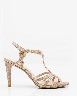 Le Château Glitter Strappy T-Strap Sandal