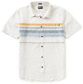 O'Neill Waters Engineered-Stripe Pocket Short-Sleeve Shirt