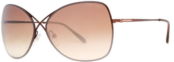 Tom Ford Women's Colette FT0250-48F-63 Butterfly Sunglasses