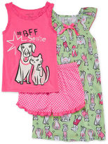 Asstd National Brand BFF Selfie 3-pc. Sleepwear Set - Girls