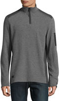 Point Zero Textured Flat Back Quarter-Zip Pullover