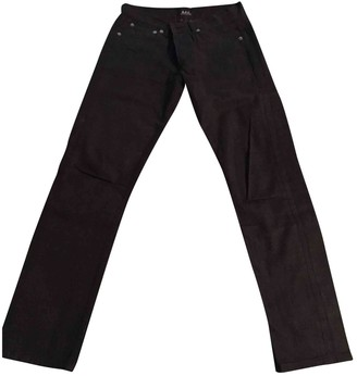 A.P.C. Black Cotton Jeans