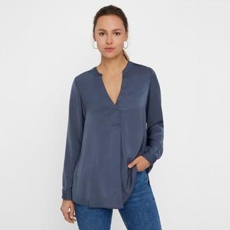 Vero Moda Long V-Neck Blouse with Long Sleeves
