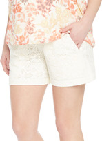 Motherhood Secret Fit Belly Lace Maternity Shorts