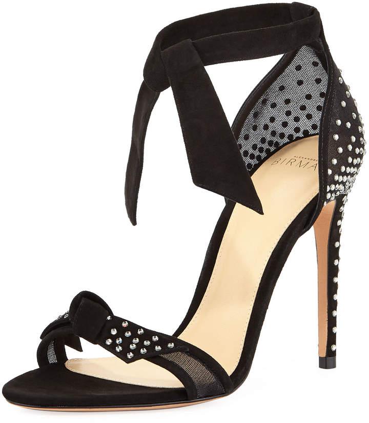 Alexandre Birman Clarita Jeweled Ankle-Tie Sandal