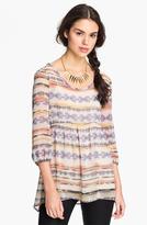 Lily White Crochet Back Babydoll Tunic (Juniors)